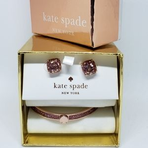 New Kate Spade Rose Gold Glitter Set